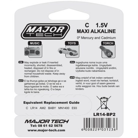 C Maxi Alkaline Batteries